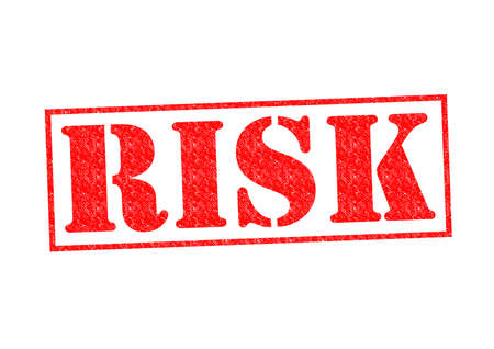 risky situation: RISK Rubber Stamp over a white background
