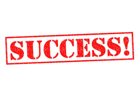 completing: SUCCESS  Rubber Stamp over a white background