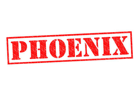 PHOENIX Rubber Stamp over a white background. photo