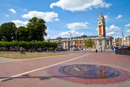 LONDON, UK - AUGUST 20TH 2013  A view of Windrush Square and Lambeth Town Hall in Brixton, London on 20th August 2013  Stock Photo - 22826727