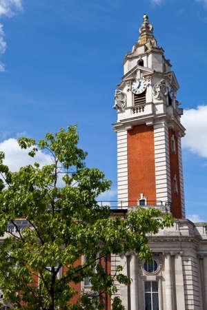 brixton: The impressive Lambeth Town Hall in Brixton, London