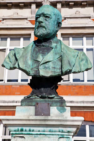 brixton: A bust of Sir Henry Tate situated in Windrush Square, Brixton