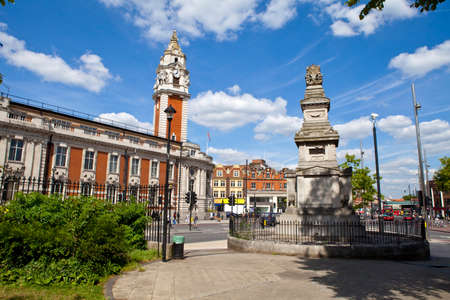 The Budd Memorial and Lambeth Town Hall in Brixton, London Stock Photo - 22850427