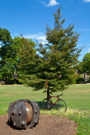 brixton: A giant Conker sculpture in Brockwell Park in Brixton, London