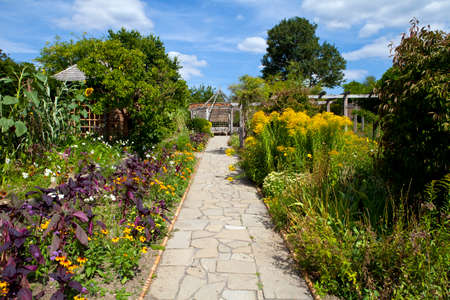 brixton: The beautiful Walled Garden in Brockwell Park, Brixton  Stock Photo