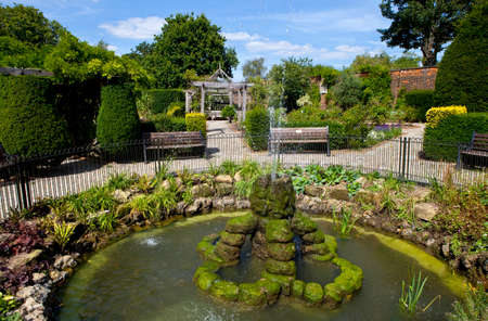 walled: The beautiful Walled Garden in Brockwell Park, Brixton  Stock Photo