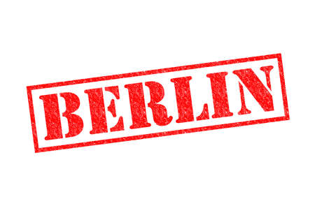 BERLIN Rubber Stamp over a white background  photo