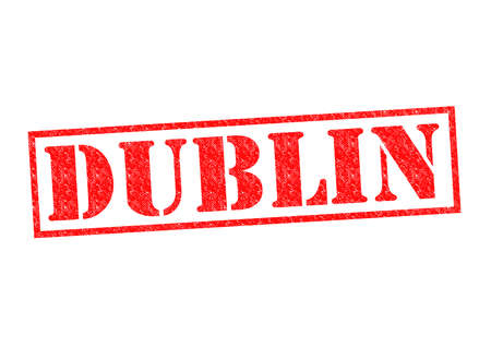 irish cities: DUBLIN Rubber Stamp over a white background