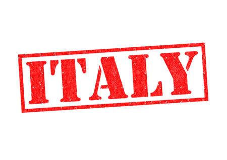 ITALY Rubber Stamp over a white background. photo