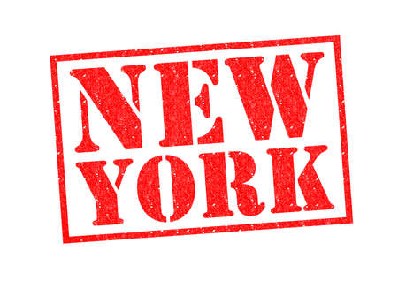 NEW YORK Rubber Stamp over a white background. photo
