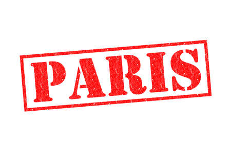 PARIS Rubber Stamp over a white background. photo