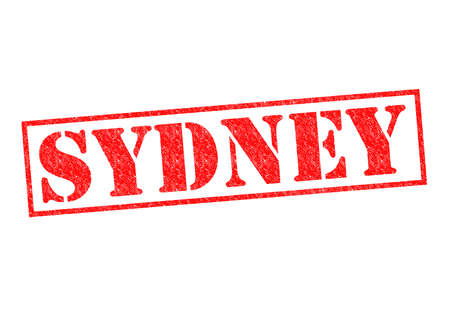 SYDNEY Rubber Stamp over a white background. photo