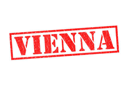 VIENNA Rubber Stamp over a white background. photo
