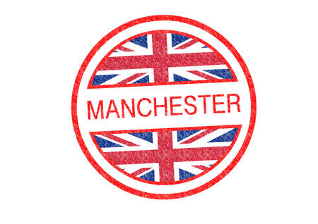 MANCHESTER Rubber Stamp over a white background.