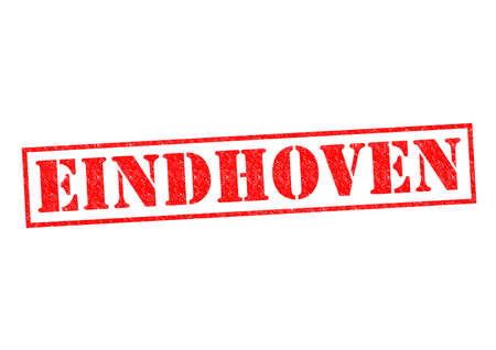 EINDHOVEN Rubber Stamp over a white background. photo