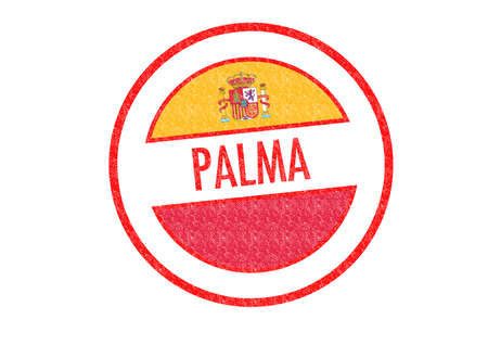 Passport-style PALMA rubber stamp over a white background. photo