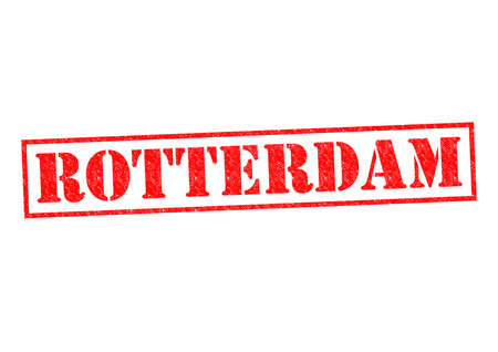 rotterdam: ROTTERDAM Rubber Stamp over a white background. Stock Photo