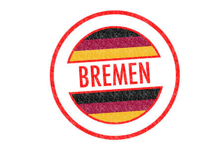 Passport-style BREMEN rubber stamp over a white background. photo