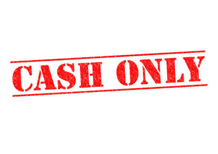 CASH ONLY Rubber Stamp over a white background. Stock Photo - 23087268