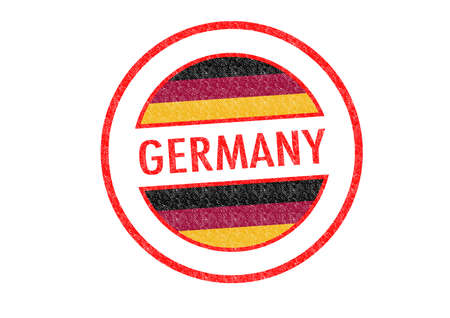 Passport-style GERMANY rubber stamp over a white background. photo