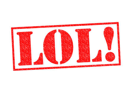 abbreviated: LOL! Timbro di gomma su uno sfondo bianco. Archivio Fotografico