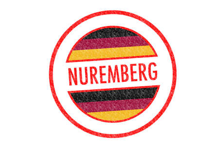 Passport-style NUREMBERG rubber stamp over a white background. photo