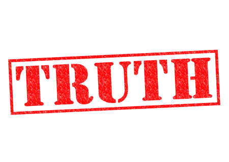 TRUTH Rubber Stamp over a white background. photo
