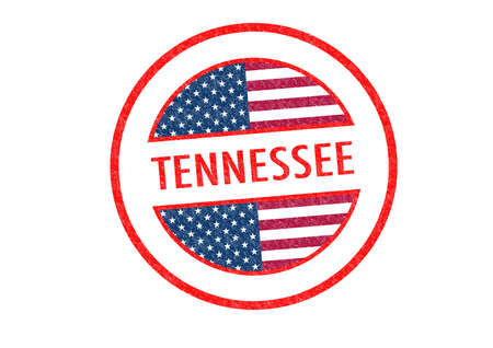 graceland: Passport-style TENNESSEE rubber stamp over a white background.