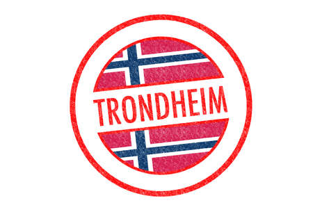 Passport-style TRONDHEIM rubber stamp over a white background. photo