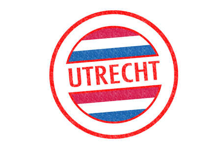 Passport-style UTRECHT rubber stamp over a white background. photo
