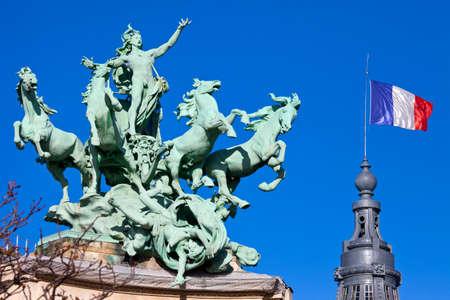 quadriga: The impressive Quadriga at the Grand Palais in Paris.