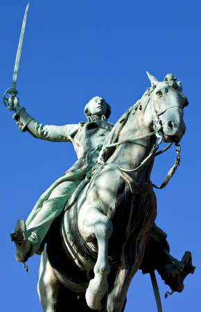 lafayette: Statue of General Marquis de Lafayette in Cours la Reine, Paris. Stock Photo