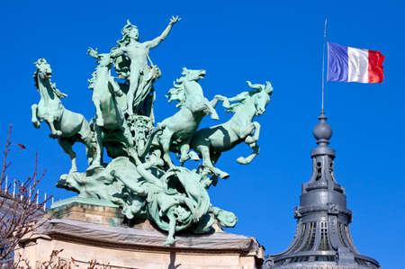 quadriga: The impressive Quadriga at the Grand Palais in Paris