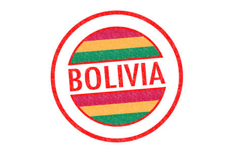 Passport-style BOLIVIA rubber stamp over a white background. photo