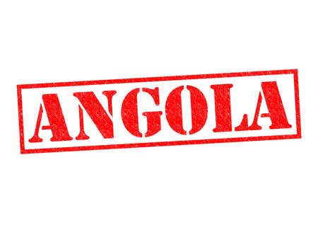 ANGOLA Rubber Stamp over a white background. photo