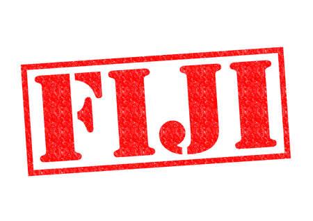 fiji: FIJI Rubber Stamp over a white background. Stock Photo