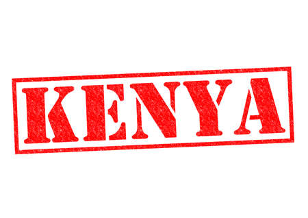 KENYA Rubber Stamp over a white background. photo