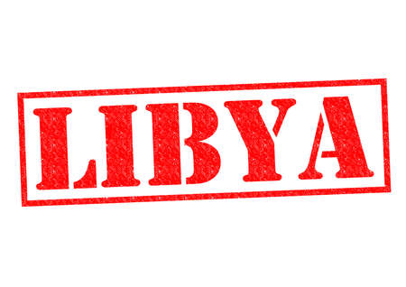 LIBYA Rubber Stamp over a white background. photo