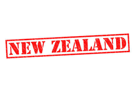 NEW ZEALAND Rubber Stamp over a white background. photo