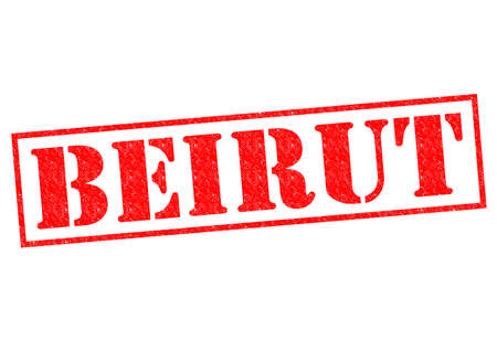 beirut: BEIRUT Rubber Stamp over a white background.