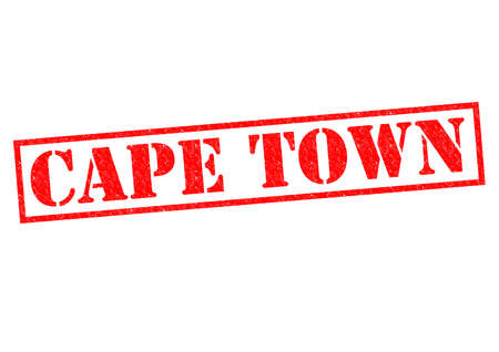 CAPE TOWN Rubber Stamp over a white background. photo