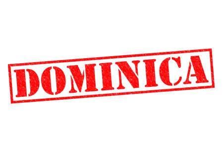 dominica: DOMINICA Rubber Stamp over a white background.