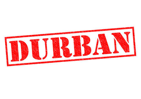 DURBAN (South Africa) Rubber Stamp over a white background. photo