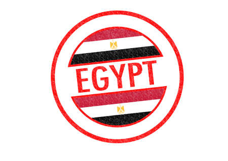 Passport-style EGYPT rubber stamp over a white background. photo