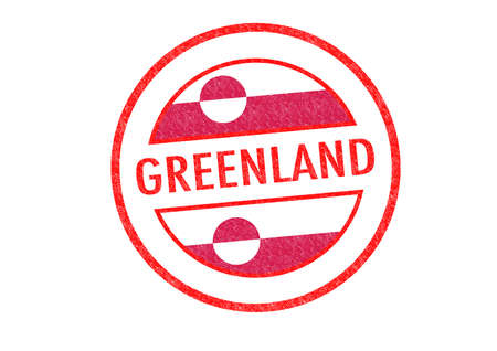 nuuk: Passport-style GREENLAND rubber stamp over a white background. Stock Photo