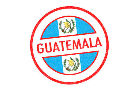 Passport-style GUATEMALA rubber stamp over a white background. photo