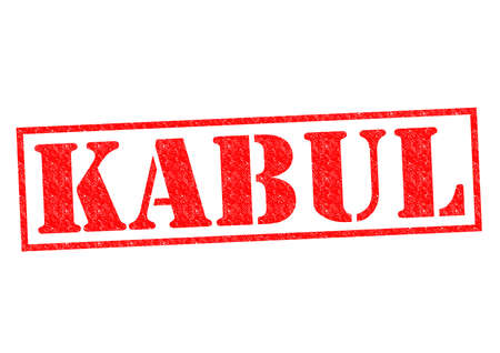 KABUL (capital of Afghanistan) Rubber Stamp over a white background. photo