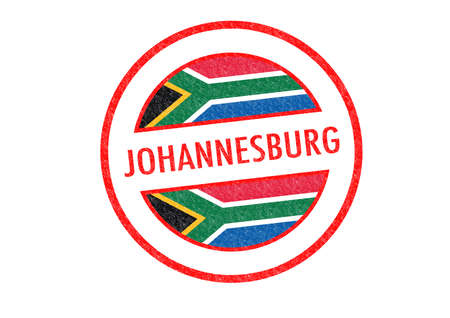 johannesburg: Passport-style JOHANNESBURG (South Africa) rubber stamp over a white background.