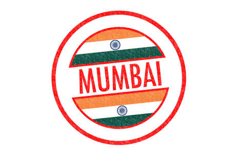 Passport-style MUMBAI (India) rubber stamp over a white background. photo