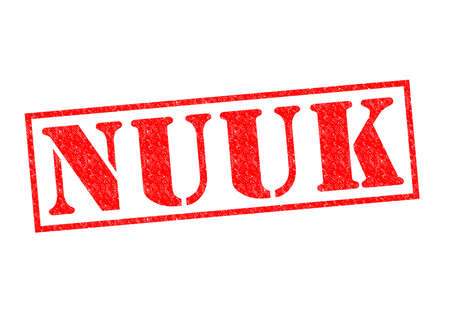 nuuk: NUUK (capital of Greenland) Rubber Stamp over a white background.